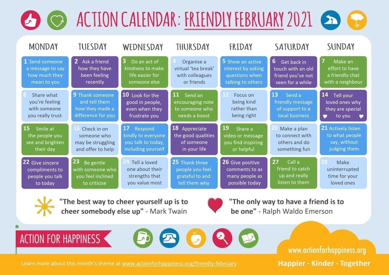 Action Calendar February 2021