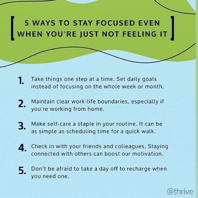 5 Ways to Stay focused